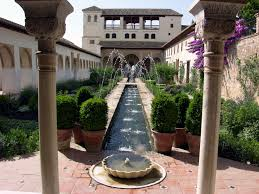 Rill with fountains