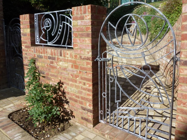 The Rose Motif Within The Metal Work Has Been Designed In An Art Deco Style  To Reflect The Name And Historical Rose Connections Of The House.