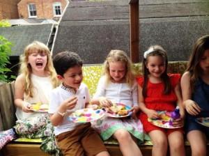 tree house tea party bench cushion children garden