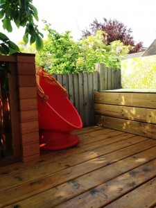 tree house seat and outdoor cushion