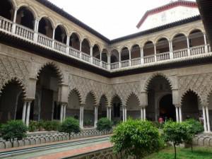 Alacazar, Seville water feature contemporary garden design