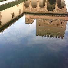 Patio de arraynes Water garden Reflection Alhambra Spain